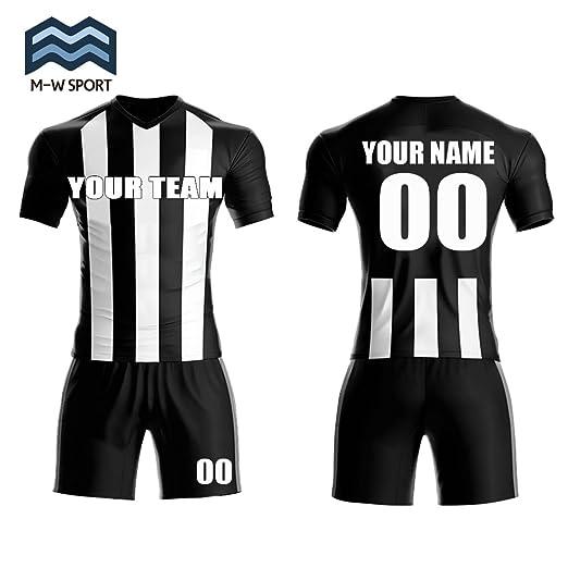 c0a98ad2661 M-W Sports Custom Vertical Stripe Soccer Jerseys Slassical Team Uniforms