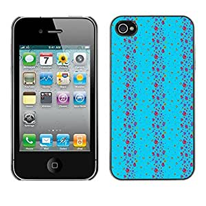 PatternViking PC Polycarbonate Aluminium Back Case Cover Apple iPhone 4 / 4S ( cute vertical pattern ) by ruishername