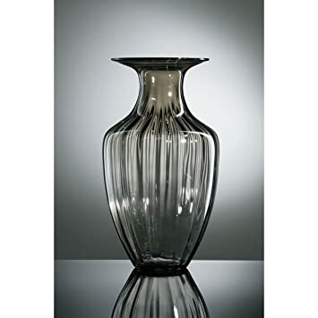 Verriere A Modern Stylish Design Smoked Grey Glass Vase Amazon