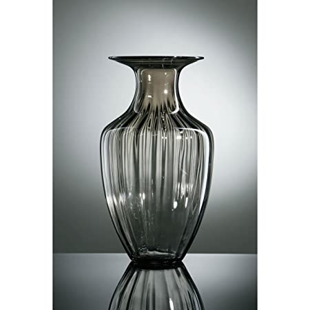 Verriere A Modern Stylish Design Smoked Grey Glass Vase Amazon