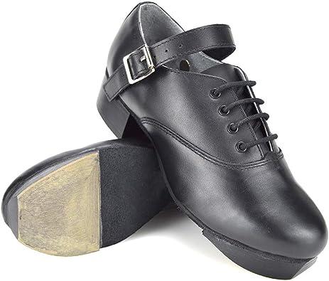 black sole Irish Dance Jig Shoes