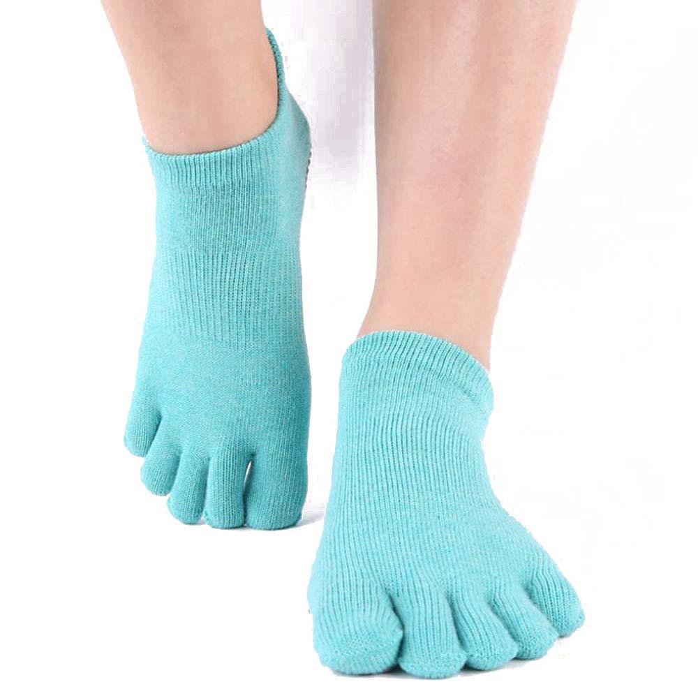 JUNSHUO Yoga Socken,Pilates Socken mit Zehen Rutschfeste Sportsocken mit Gummisohlen Atmungsaktivit/ä