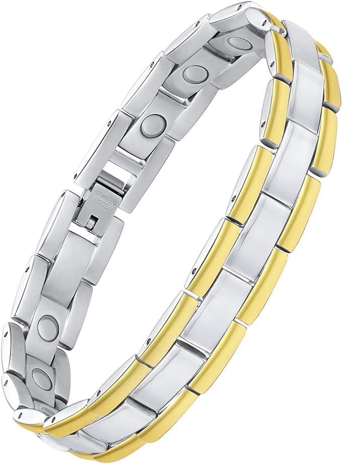 SAVITA 1 St/ück Magnetisches Handgelenkn/ähkissen Magnetisches Armband f/ür Haarnadeln mit 3 St/ück Rattenschwanzk/ämmen aus Edelstahl f/ür Haarspangen Handn/ähen