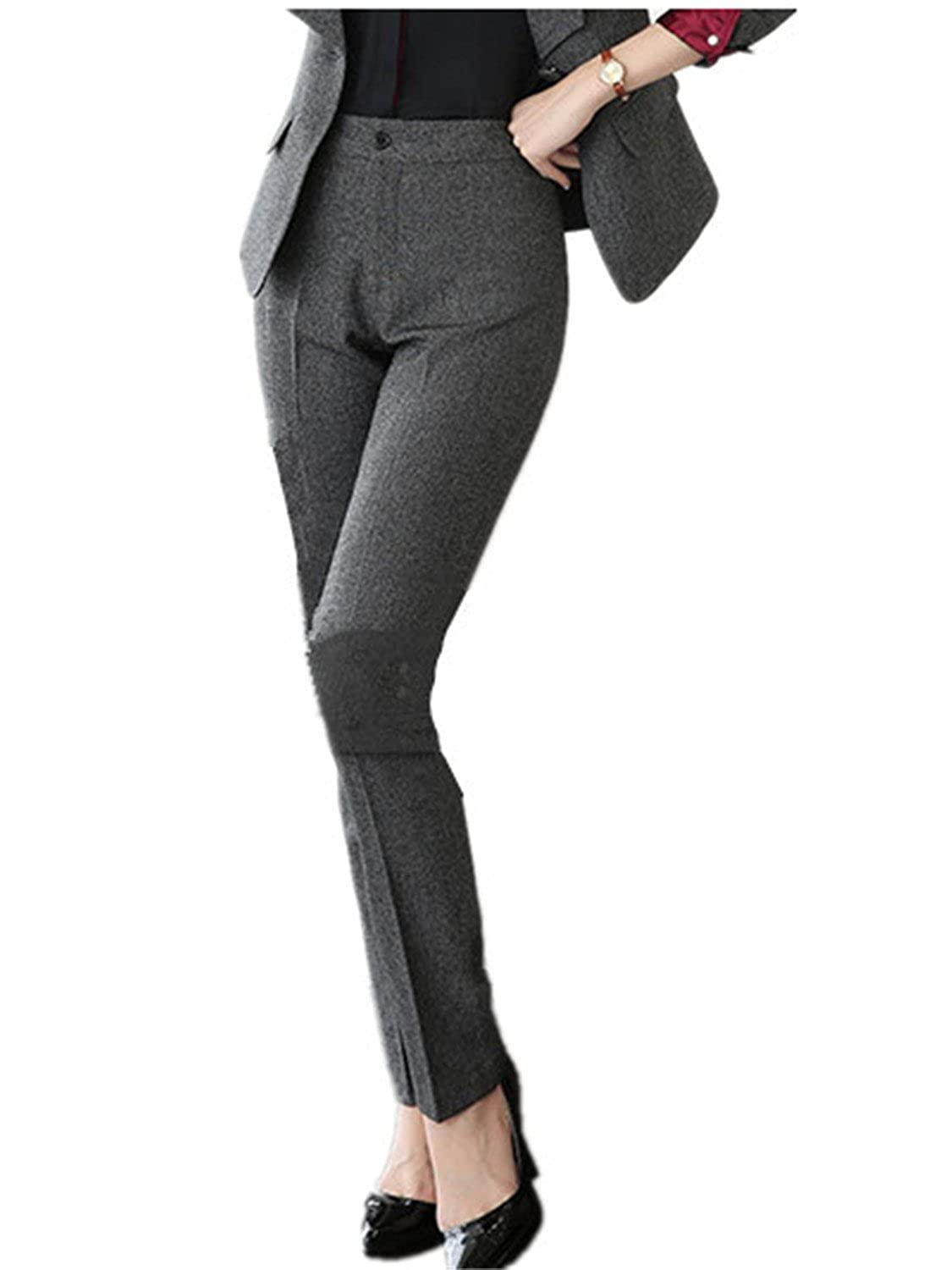 b5f605e5ce8 Reedbler Cosy Fashion Full length professional business Formal pants women  trousers girls slim female work wear Office Lady career plus size clothing  Dark ...