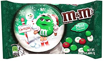 Christmas Candies.M M Mint Chocolate Mint Christmas Candies 9 9 Ounce