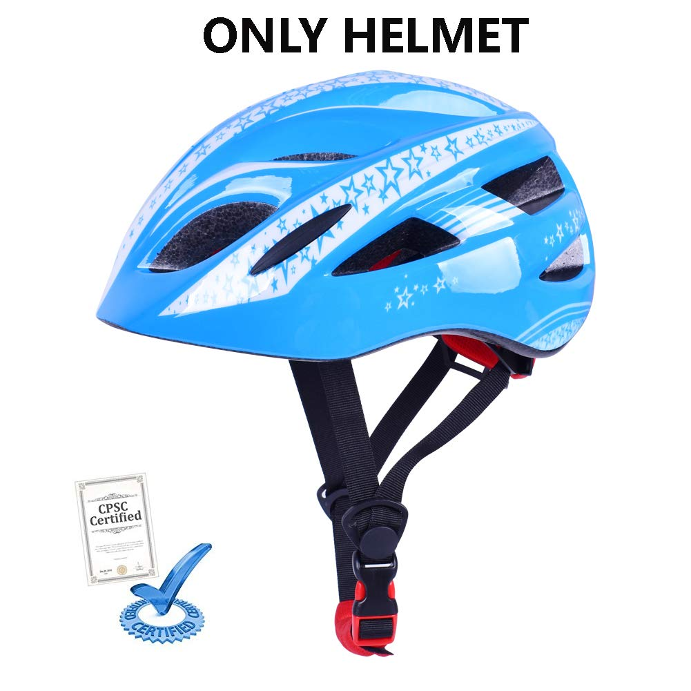 BDAY SPORTS Kids Toddler Child Youth Bike Helmet with Safety Protective Gear Set CPSC Certified