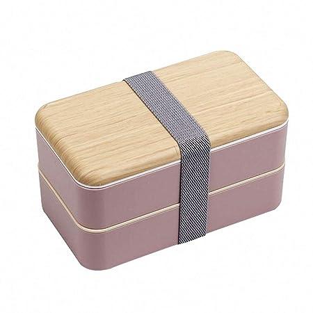 O-Kinee Fambrera Infantil, Lunch Box, 1200ml Fiambrera con Lonchera Doble, Cuchara Tenedor Lonchera, Bento Box Sostenible, para Microondas y ...