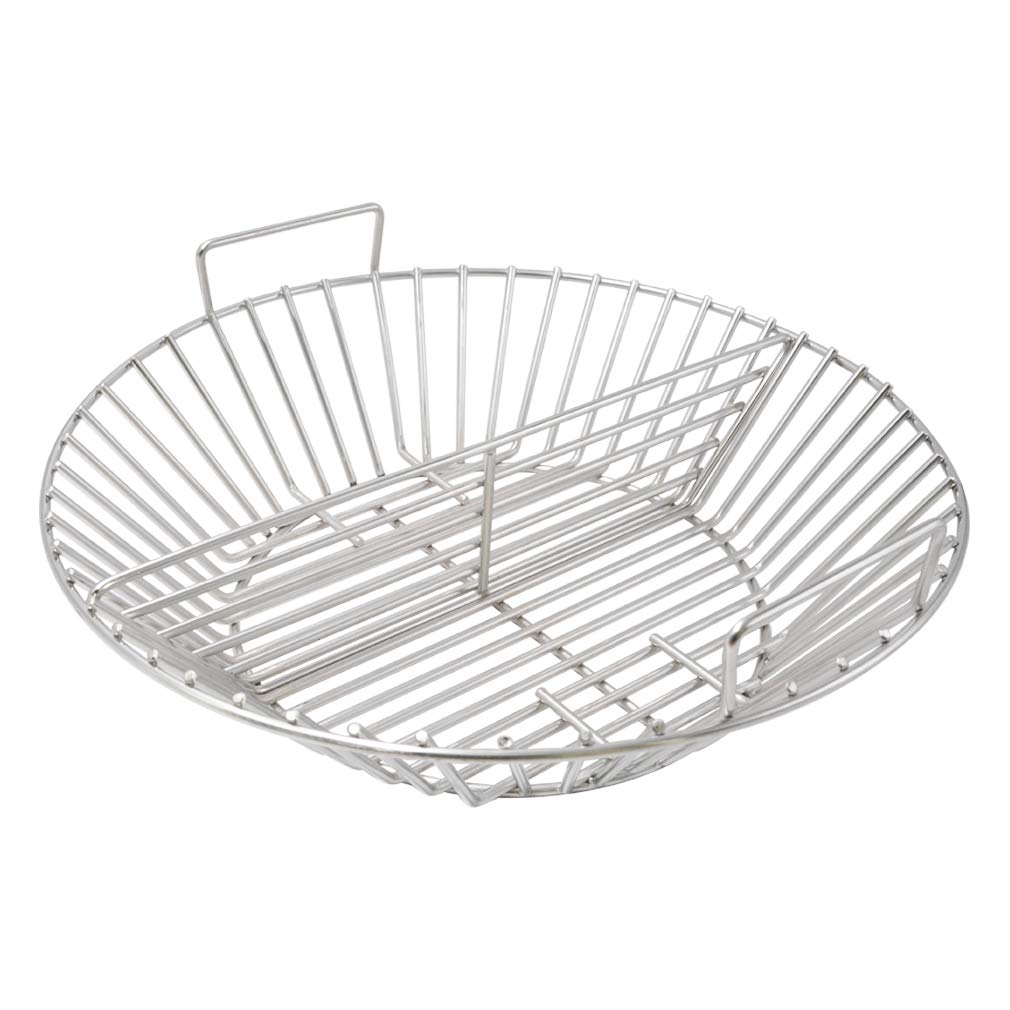 only fire Barbecue Stainless Steel Charcoal Ash Basket Fits Kamado Joe Big Joe