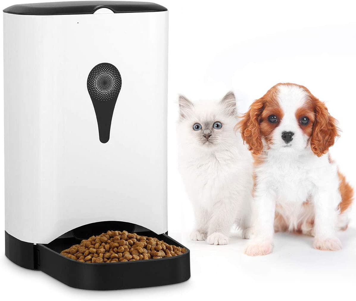 Giantex Automatic Cat Feeder 4.5L Pet Food Dispenser for Cats, Dogs Small Animals, Distribution Alarms, Portion Control, Voice Recording, Programmable Timer, Up to 4 Meals A Day