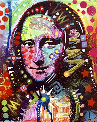 Great Art Now Mona Lisa by Dean Russo Art Print, 13 x 16 inches