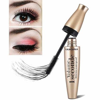 Logobeing 3D Mascara de Fibra Larga Negro Pestañas De Extensión de Cejas Impermeable Maquillaje Ojo Herramienta