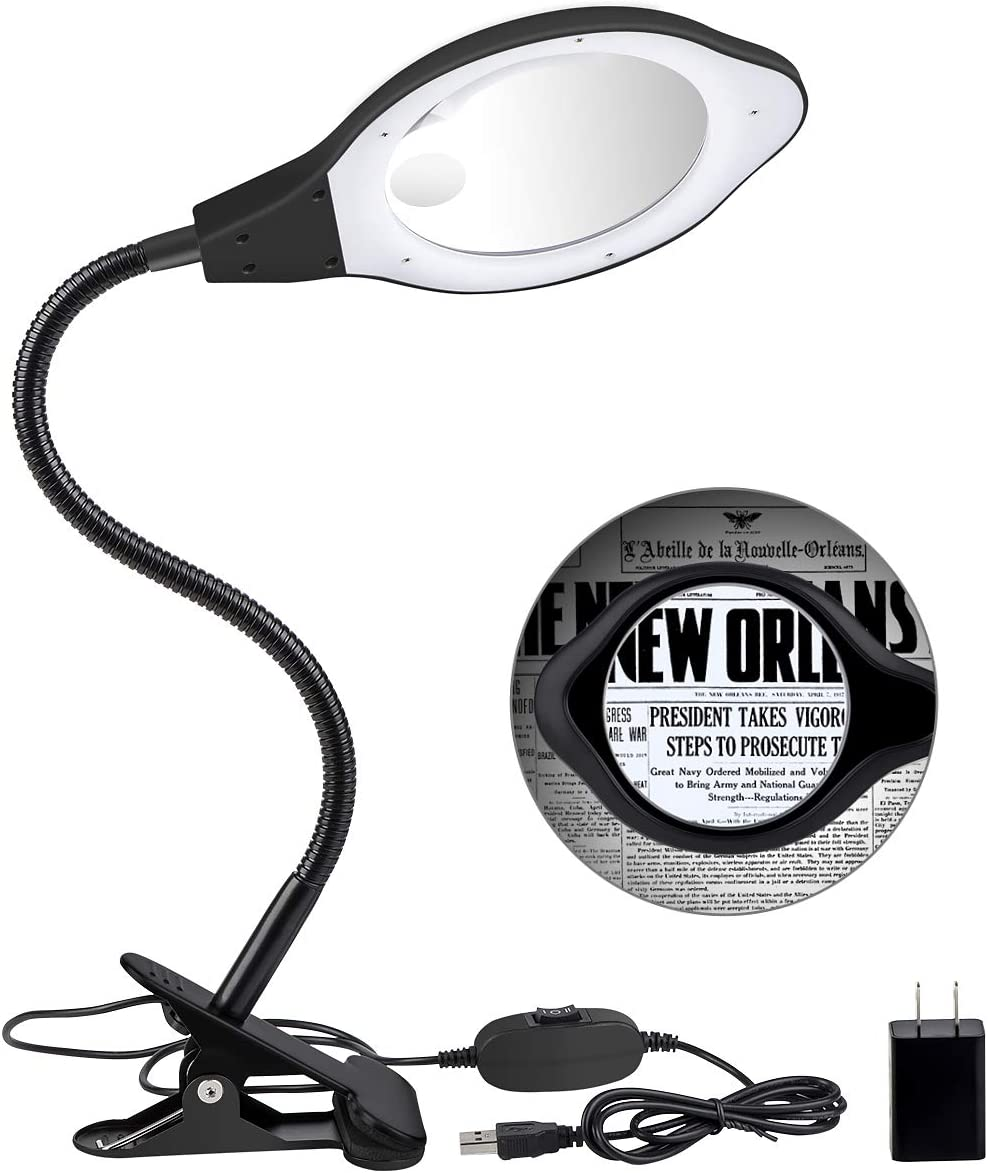 Dylviw Bright Light Magnifier Lamp