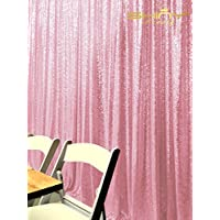 PHOTOBOOTH BACKGROUND Best Choice-4FTx7FT-Pink-Sequin backdrops, Sequin fabric,Wedding backdrops,Rust Backdrop,Sequin curtains,Photography backdrop (buy it now) (Pink)