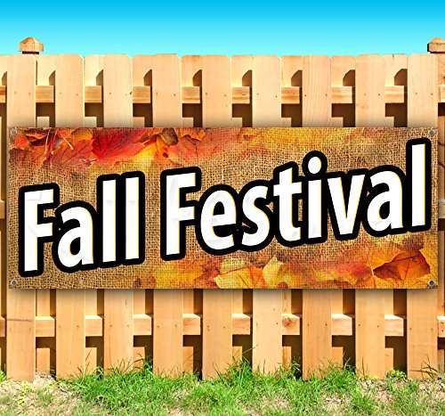 Tampa Printing FALL FESTIVAL 13 oz heavy duty vinyl banner sign with metal grommets, new, store, advertising, flag, (many sizes available) -