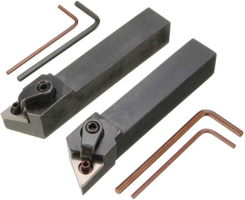 HYY-YY Lot de 2 supports pour outils de tournage de tour 16 x 100 mm pour kit dinsertion Tnmg 4 cl/és 2 barres dal/ésage
