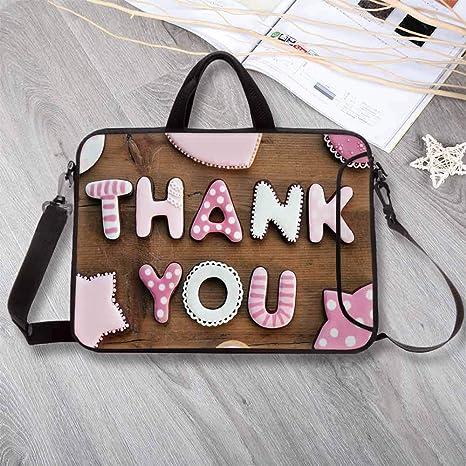 Amazon com: Thank You Decor Waterproof Neoprene Laptop Bag,Romantic