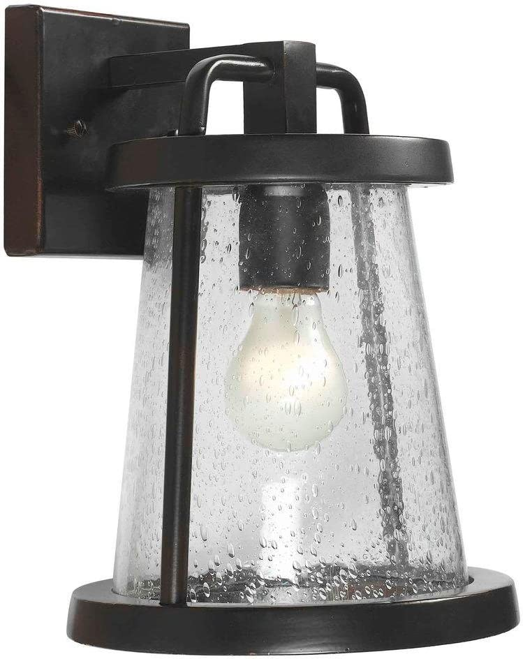 Gale Outdoor Black Exterior Wall Lantern
