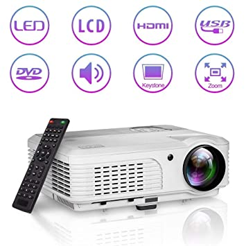 4200 lúmenes Proyector portátil HD video HDMI 1080P LCD LED ...