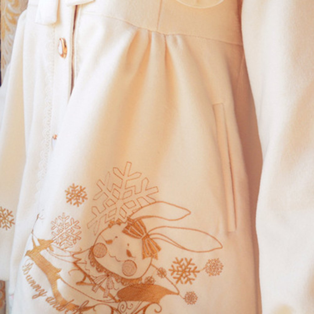 Nuoqi Winter Lolita Coat Womens Girls Cosplay Coat Costumes by Nuoqi (Image #3)