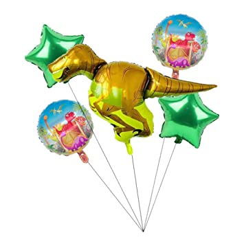 FutuHome 5 Piezas De Papel De Dinosaurio Globo Cumpleaños ...