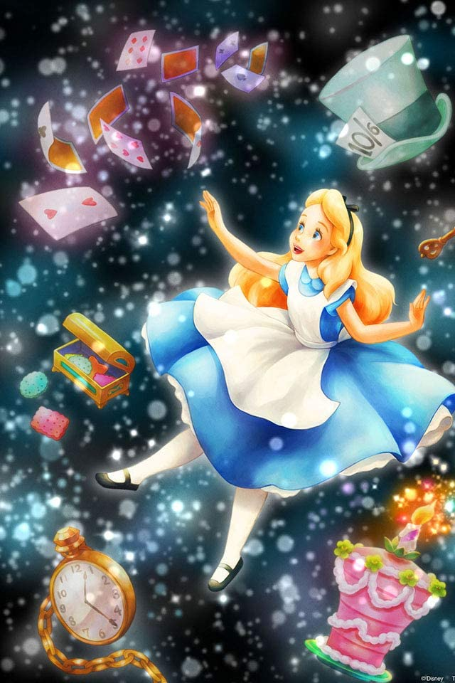 ディズニー アリス iPhone(640×960)壁紙画像