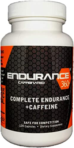 Endurance360 Caffeinated Sports Performance Supplement for Triathletes Runners Cyclists, VO2 Max, Smart Muscle Recovery, Aid Muscle Soreness, Muscular Endurance