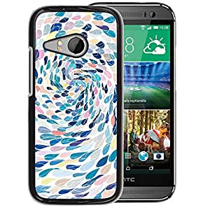 Planetar® ( Swimming Abstract Art Metaphor ) HTC ONE MINI 2 / M8 MINI Fundas Cover Cubre Hard Case Cover