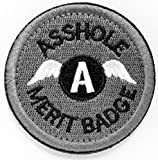 WZT Asshole Merit Badge Morale - Tactical Patch (gray)