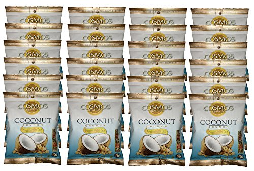 Premium Puffed Corn Snacks - Coconut Crunch Popcorn - 1.25 oz Each - 24 Bags Value Pack by Cosmos Creations