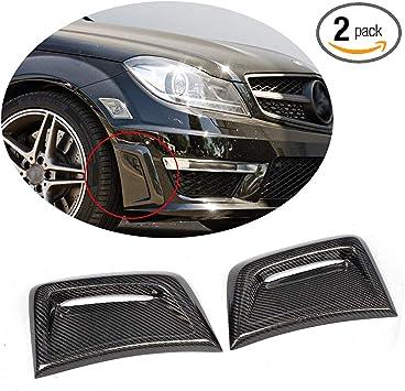 Carbon Fiber Front Bumper Side Canards Splitter Fins 2pcs for for W204 C250 C300