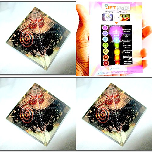 - Jet Exquisite Three (3) Black Tourmaline Orgone Pyramid 1 each Best Offer Free Booklet Jet International Crystal Therapy Crystal Gemstones Copper Metal