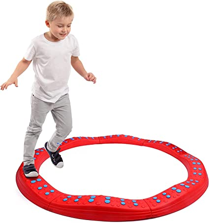 Wavy Circle Balance Beams Stepping Stones for Kids, 8 Pc. Set