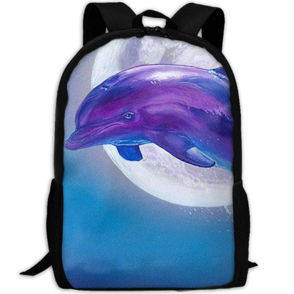 Most Durable Lightweight Classic Backpack Casual Everyday Student School Bookbag One Size - Dolphin Wall Decor by USYOYOGA