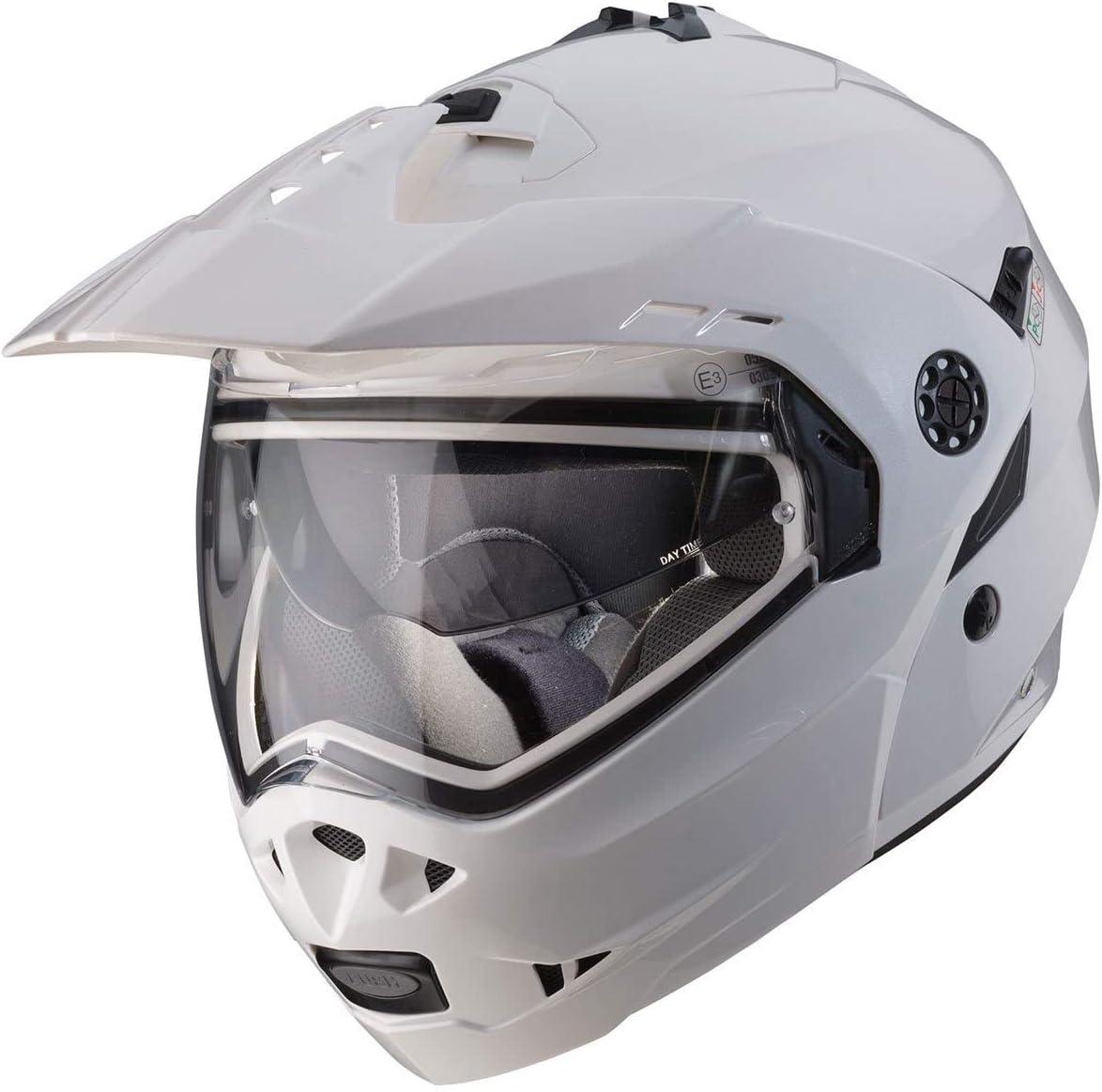Metall Wei/ß Neue Caberg Tourmax Helm 2015