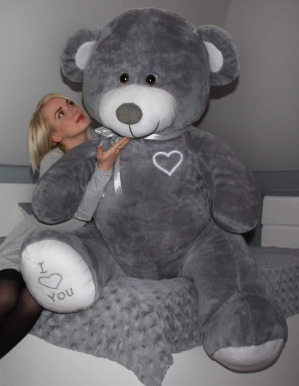 f54dea30dc3 Large Giant Big Teddy Bear Soft Plush Toys 190cm (Colour  Grey)   Amazon.co.uk  Baby