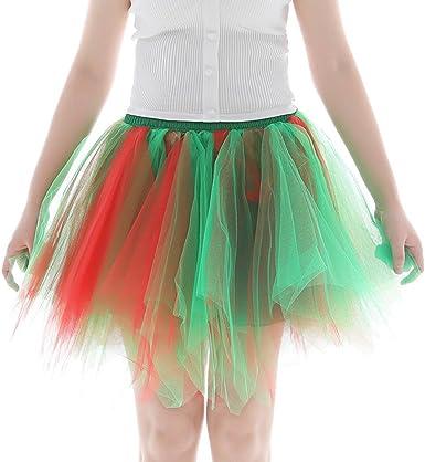 Leeafly - Falda de Tul para Mujer, años 50, Retro, tutú, Baile ...