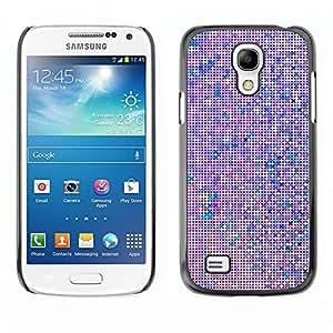 Planetar® ( Screen Pixel Computer Art Monitor Purple ) SAMSUNG Galaxy S4 mini VERSION! / i9190 / i9192 Fundas Cover Cubre Hard Case Cover