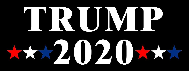 Amazon com american vinyl trump 2020 rwb stars bumper sticker donald gop pro republican automotive