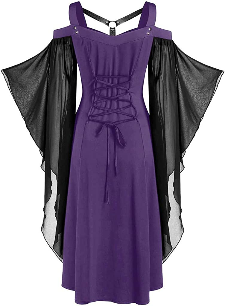 Amphia - Vestido Largo de Tul para Mujer - Vestido de Corbata con ...