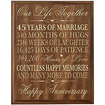 Amazon Com Lifesong Milestones Parents 45th Wedding