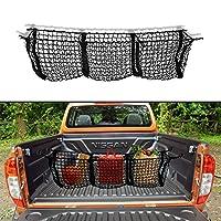 Custom Autos Automotive Black Three Pocket Black Mesh Hammock Storage Trunk Car Organizer Truck Bed Cargo Net