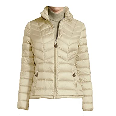 Michael Michael Kors Chevron Quilted Packable Down Jacket Xxlarge