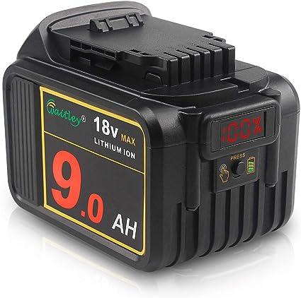 4.0Ah Batterie de Remplacement TDBP04P pour tous les Outils /Électriques sans Fil 18V de TECCPO TECCPO 18V Batterie Rechargeable au Lithium-ion
