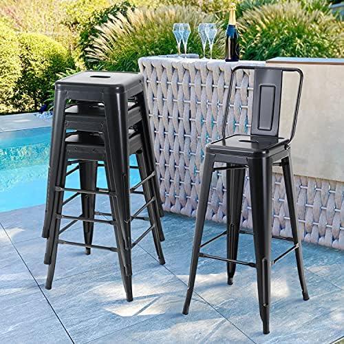 Sophia William Metal Bar Stools Set of 4 - a good cheap outdoor bar stool