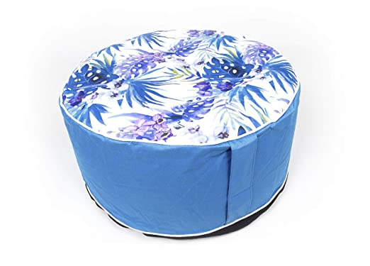 CapitanCasa - Puf Hinchable Mod. Movida Color Azul: Amazon ...