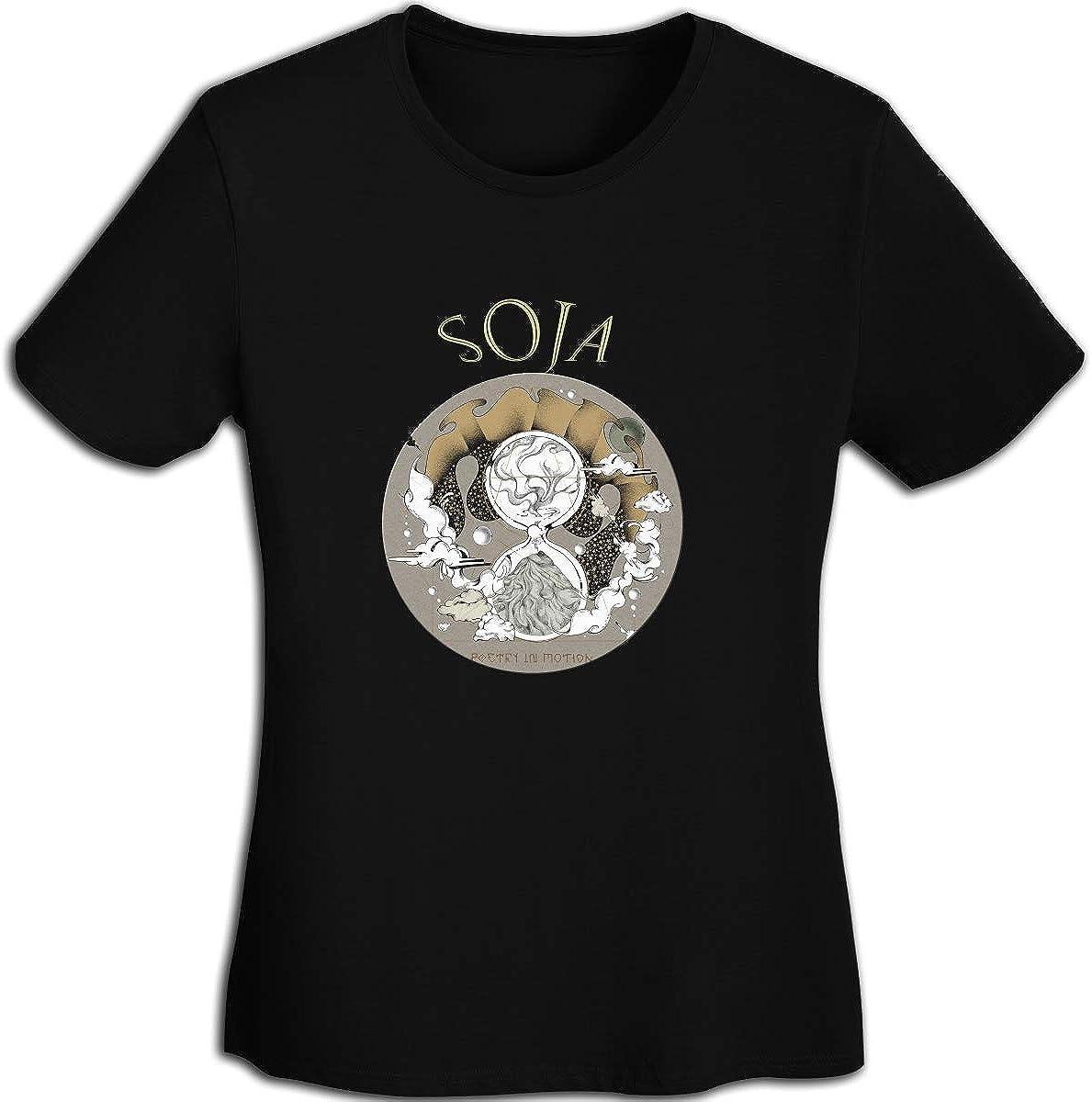 FankTasf SOJA Womens Fashion T-Shirt Teen Girl Printed Short-Sleeved T-Shirt