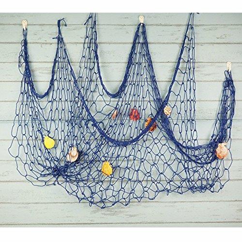 Bilipala Mediterranean Fishing Net Decoration, Fish Netting With Seashell Decor, Nautical Party Decorations, ()