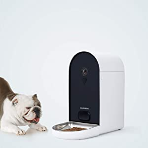 DOGNESS Automatic WiFi Dog/Cat Smart Camera Feeder - 6.5Lbs Large Capacity App Control Food Dispenser with WiFi, Portion Control, Voice Recording, Camera, Timer Programmable