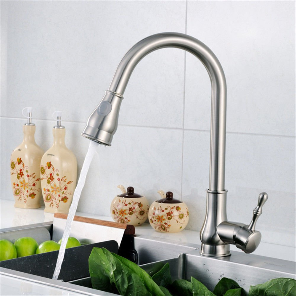 Lalaky Taps Faucet Kitchen Mixer Sink Waterfall Bathroom Mixer Basin Mixer Tap for Kitchen Bathroom and Washroom Full Copper Wire Drawing