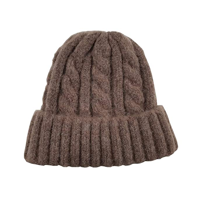 4024095941a RANISSOM A W Twisted Knit Beanie (Beige) at Amazon Women s Clothing ...